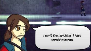 Screenshot from the Ninja Pizza Girl game.