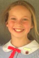 Billie Jade Mayson Kinder, 12, who died at Pitt Town on Sunday.