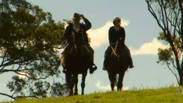 Malcolm Turnbull and his daughter Daisy on their Hunter Valley property.