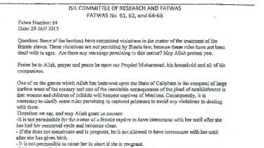 Part of a US government translation of the document it says was seized in May.