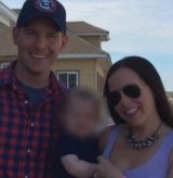 Outraged: John and Tara Carson with their near two-year-old baby.