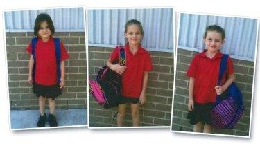 The Latta siblings, from left, Zahara, 8, Matika, 9, Jaylee, 11.