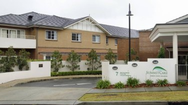SummitCare Wallsend, where two residents died.