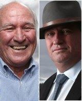 Territory: Tony Windsor and Barnaby Joyce.