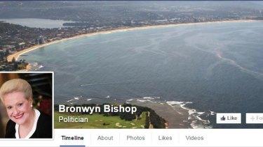 Bronwyn Bishop's Facebook cover photo.