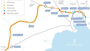 The new Regional Rail Link opened on Sunday, separating Metro Trains from V/Line.