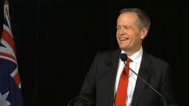 Bill Shorten said the government didn't have a mandate in his election night speech.
