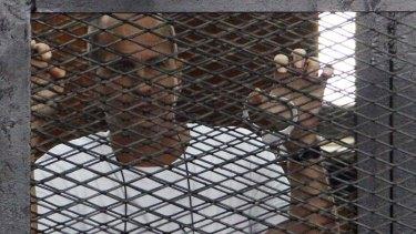 Imprisoned: Australian journalist Peter Greste.