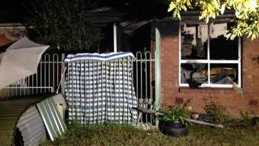 A house at Heidelberg West was gutted by fire.