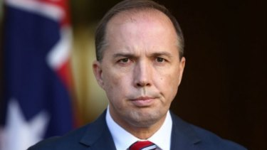 Immigration Minister Peter Dutton met with PNG's Prime Minister on Wednesday.
