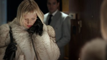 Mia Wasikowska features in some power play of a peculiarly bloody variety in <i>Piercing</I>.