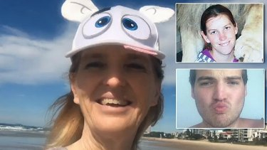Maree Crabtree is accused of the murders of her children, Erin (inset top) and Jonathan (inset bottom).