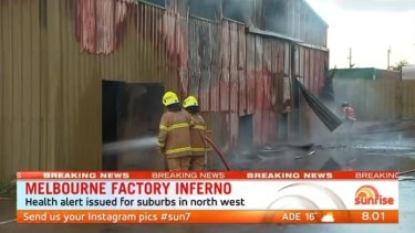 It took firefighters nearly three hours to bring the fire under control.