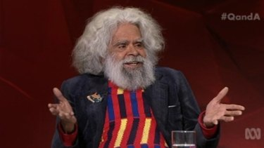 Actor Jack Charles on ABC's Q&A.