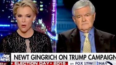 Showdown: Newt Gingrich and Megyn Kelly.