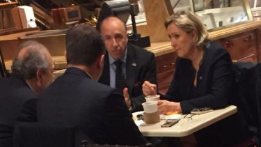 Marine Le Pen pictured at Trump Tower on Thursday.