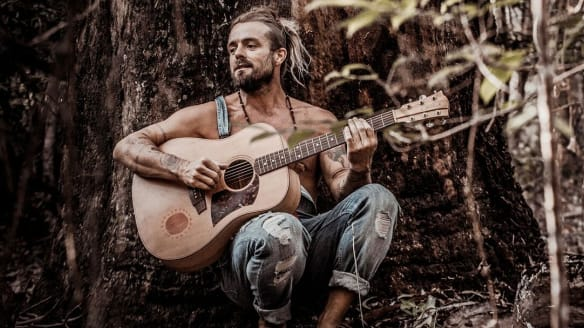"Xavier Rudd waits for stories to ""arrive"" rather than sitting down to write."