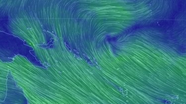 A tropical low over the Solomon Islands may develop into another cyclone.