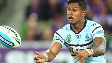 Given another chance: Ben Barba will be back in Sharks' colours this season.