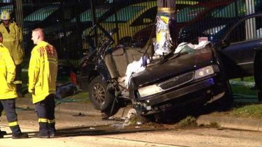 One man died at the scene of the crash, on Canterbury Road in Belmore. Another died in hospital.