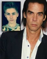 Nick Cave and his son Arthur Cave, inset. Arthur, 15, fell to his death from a cliff at Ovingdean Gap in Brighton, East Sussex in July.