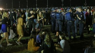 There was a significant police presence at the Groovin' the Moo festival.