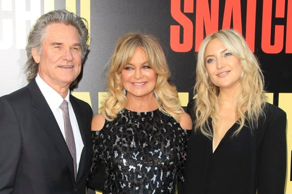 Hudson with her parents Kurt Russell and Goldie Hawn.