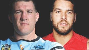 Big weekend: Sharks captain Paul Gallen and Swans star Lance Franklin.