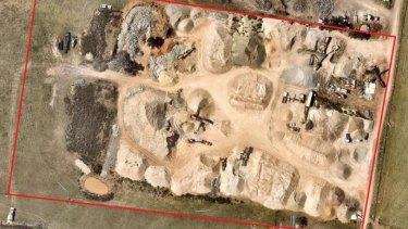 An aerial shot of the dump site taken in December 2015.