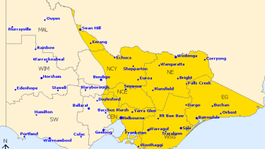 Severe weather warning map.