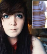 Caitlin McNeill with the original image of the dress she posted on Tumblr.