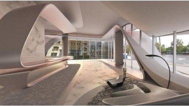 An artist's impression of the foyer.