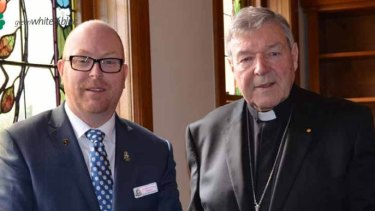 """Principal of St Patrick's College John Crowley (left) was new to the role and, he says, """"naive"""" when he showed Cardinal George Pell around the school last year."""