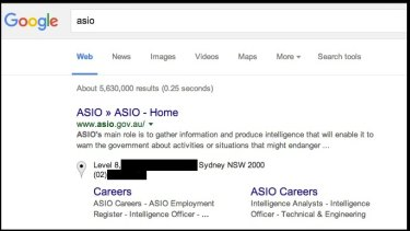 Searching for ASIO on Google brought up a Sydney street address and phone number registered to Netventures, an IT software development company.