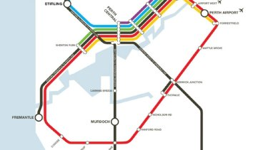 The original Metronet layout drawn up by WA Labor was the topic of much debate about costings.