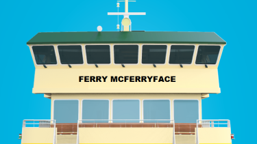 Transport Minister Andrew Constance announced that a Sydney ferry would be named Ferry McFerryFace.