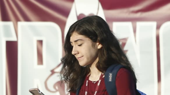 At Stoneman Douglas High School, anxiety, hope on first day of school