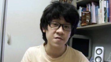 "Amos Yee in a screengrab of his YouTube video ""Lee Kuan Yew Is Finally Dead!""."
