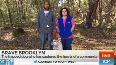 Charles Griffith appeared on Sunrise with his dog Brooklyn.