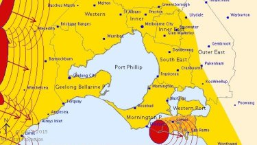 A severe thunderstorm warning was issued for the Melbourne area on Friday.