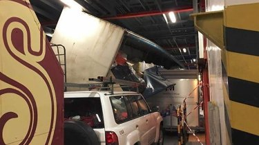 """That's gonna be one huge insurance claim,"" said one passenger of the carnage below-decks."