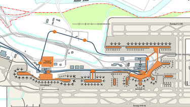 A monorail forms part of Brisbane Airport's master plan.