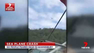 The footage, aired by Seven News, reportedly captured the last moments of the sea plane in the air.