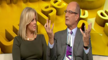 """Samantha Armytage disagreed with <i>Sunrise</i> co-host Kochie's views on men wanting """"calm"""" women."""