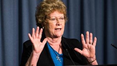 Health Minister Jillian Skinner addressing the media on Tuesday.