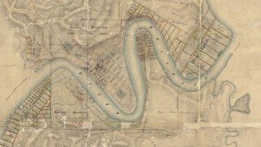 Map of Brisbane Town, 1844.