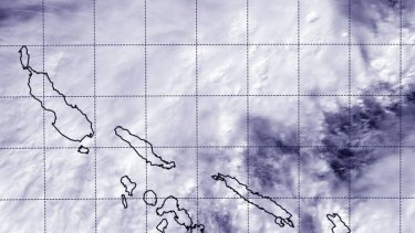 Cyclone Raquel forms over the Solomon Islands.