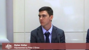 Dylan Voller speaking at the royal commission..