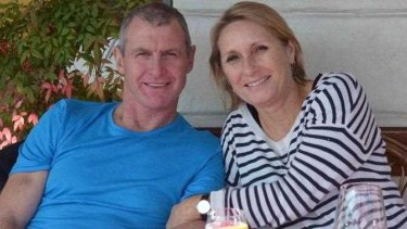 Walsh and his wife Meredith who was taken to hospital with a leg wound.