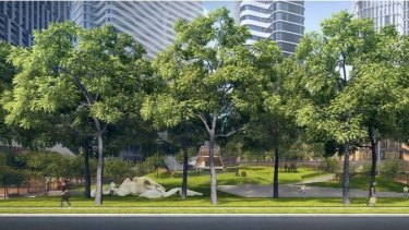 The main garden would be  off Kavanagh Street in Southbank.